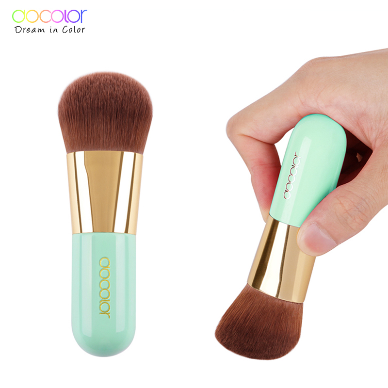 Docolor Professional Foundation Brush Green Makeup Brush Powder Face Brush with Box Make up Brushes Beauty Essential Tools