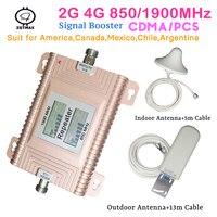 Impulsionador de sinal 850 mhz 1900 mhz gsm repetidor 3g repetidor de sinal gsm repetidor repetidor de sinal de celular para casa inteligente conjunto
