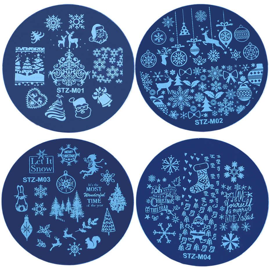 1 шт., трафареты для стемпинга на Рождество, Хэллоуин, трафареты для ногтей, снежинки, лак в виде черепа, маникюрный шаблон, DIY штамповочные инструменты, для детей и взрослых