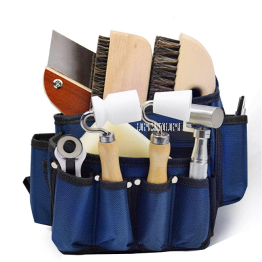 Outils de papier peint professionnel sac presse roue brosse couteau à découper grattoir ensemble complet tissu mural outils de Construction paquet - 2