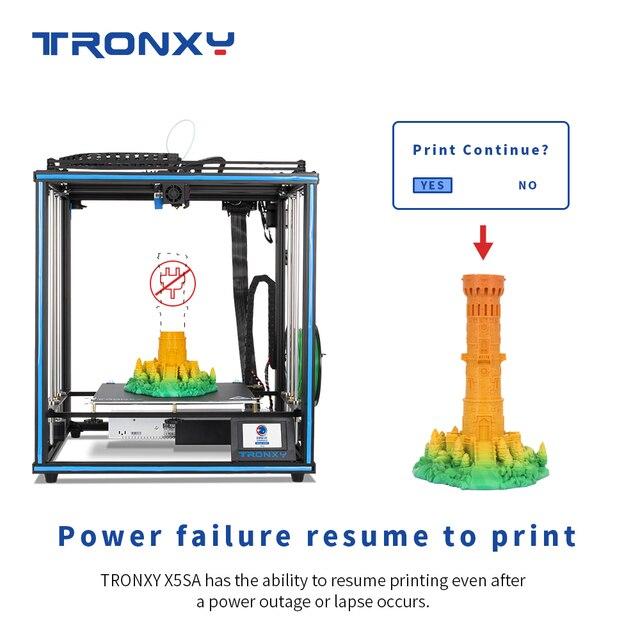 Impresora 3D TRONXY X5SA de 24V, núcleo de estructura XY con sensor de filamento de nivelación automática, impresora 3d a gran escala, impresión 3d industrial, 2020