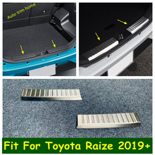 Lapetus Stainless Steel Rear Bumper Protector Guard Plate Protective Cover Trim 2pcs Accessories For Toyota Raize 2019   2021