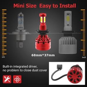 Image 4 - 2Pcs Led 360 H7 Koplamp Lamp 16000LM 4 Side Cob Led H4 H1 H11 H8 HB3 HB4 Auto Fog verlichting 12V 24V Auto Verlichting Voor Hyundai/Skoda