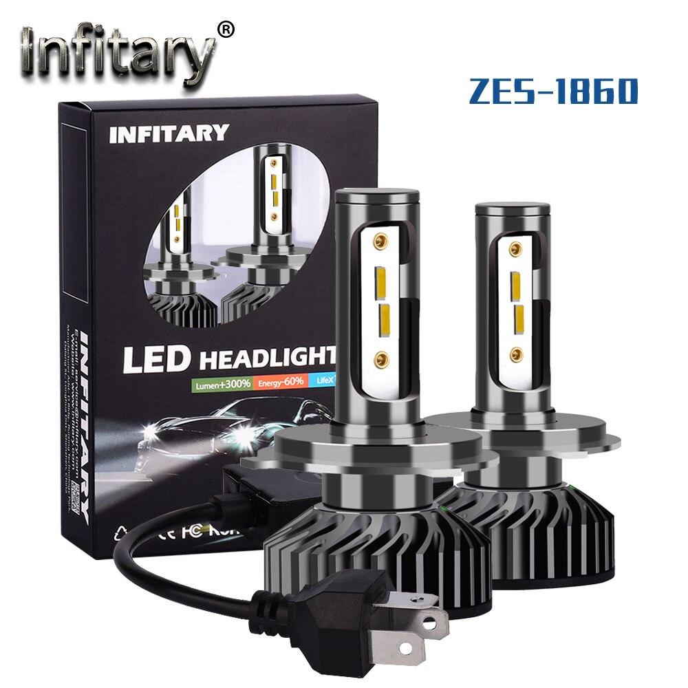 Infitary светодиодный автомобильный головной светильник s лампы H4 H7 H11 H1 HB3 HB4 ZES 1860 чипы Светильник 3000 К 4500 к 6500 к 10000лм 12 В Автомобильные противотуманные фары