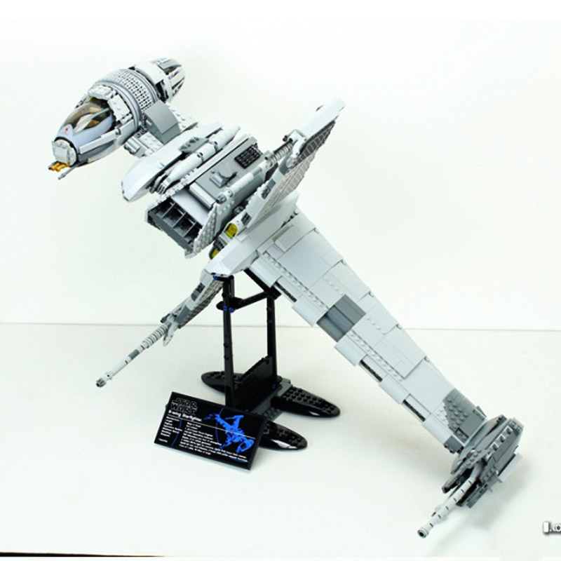 05045 Star Wars Series The B wing Star Fighter Mobile Building Block 1487Pcs Bricks Toys Gift Star Wars 10227-in Blocks from Toys & Hobbies