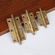 "Decorative Cabinet Hinges Vintage Brass Furniture Kitchen Cupboard Door Folding Butt Hinges 2""/2.5""/3""-4Pack"