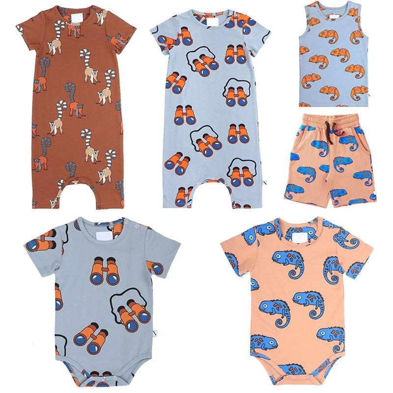 CarlijnQ 2020 Summer Baby Romper Lovely Cartoon Pattern Design Baby Clothes High Quality Toddler Onesie Boys Girls Brand Romper