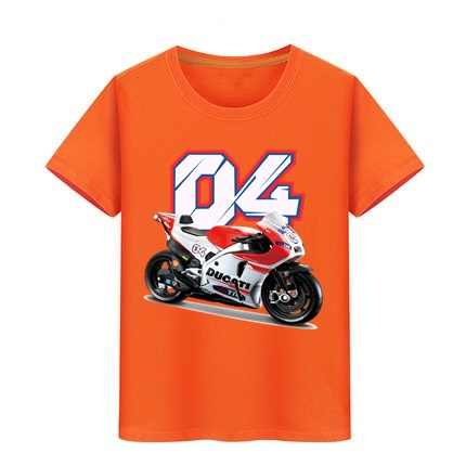 소년 티셔츠 소녀 면화 티셔츠 탑 어린이 스케이트 보드 티셔츠 아이 티셔츠 Andrea Dovizioso 04 오토바이 프린트 브랜드 티
