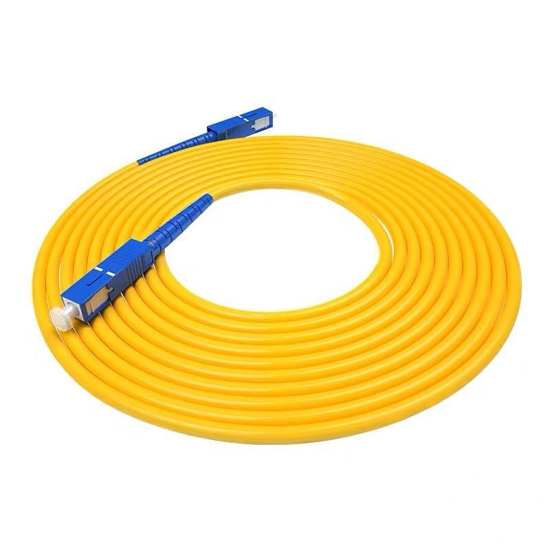 10Pcs/Lot 1M 2M 3M 5M SC/UPC-SC/UPC Simplex 9/125 Single Mode SM Fiber Optic Cable Patch Cord