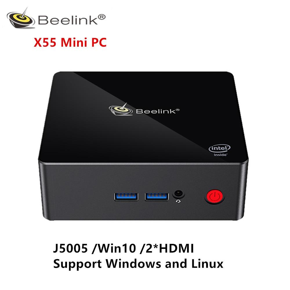 Beelink Gemini X55 Mini PC J5005 Win10 8GB LPDDR4 256/512GB 2.4GHz+5.8GHz WIFI 2*HDMI BT4.0 Mini PC Support Windows And Linux