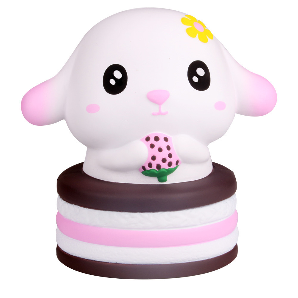 Adorable Rabbit Slow Rising Stress Relief Toys Animals Rabbit Adults Healing Anti-stress Squeeze Toys For Children #C