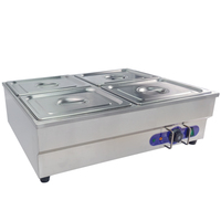 Fast ship from Germany ! Electric Cooking Equipment Food Warmer Stainless steel Bain Marie 4 pot