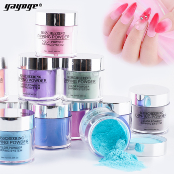 Yayoge Dip Nail Powders 12 Colors Dipping Glitter Decoration 3 In 1 Dipping Nail Powder for Nail Art Powder Without Lamp Cure gelike new arrival winter colors 10g box dipping powder without lamp cure nails dip gel nail polish dropshipping