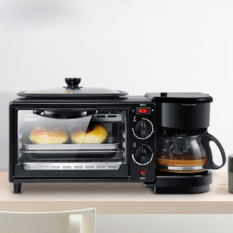 Машина для завтрака мелкие бытовые многофункциональный 3 в 1 печь для жарки машина для обжаривания кофе машина