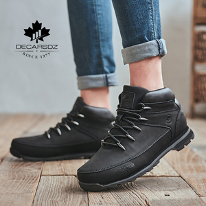 Image 5 - Men Basic Boots Shoes Men 2020 Autumn Winter Fashion Casual Boots Men Brand Ankle Botas New leather Classic Lace up Men Boots