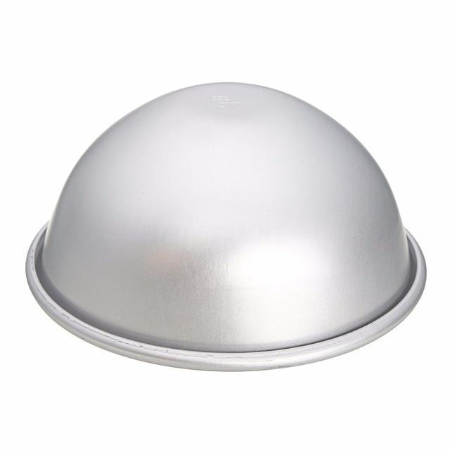 6pcs 3 Sets Aluminium Alloy Bath Bomb Molds DIY Tool Bath Bomb Salt Ball Homemade Crafting Gifts Semicircle Sphere 3