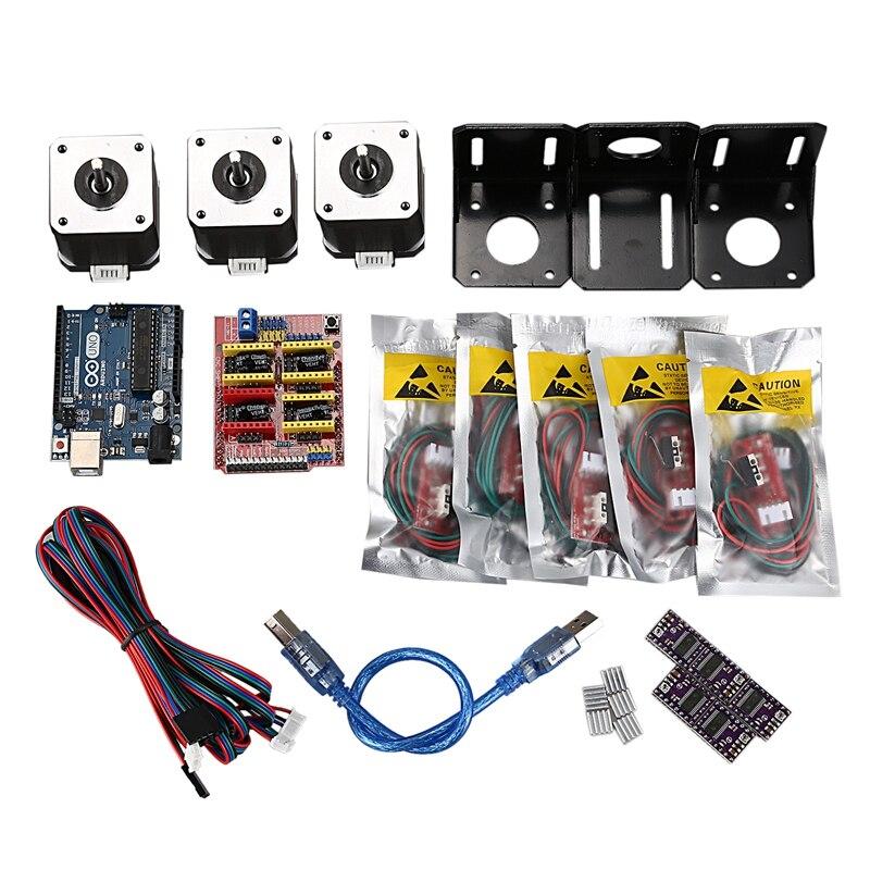 Professional 3D Printer CNC Module Kit For Arduino 3D Printer, Nema 17 Stepper Motor+CNC Shield Board+for UNO R3 Board+Mechanica
