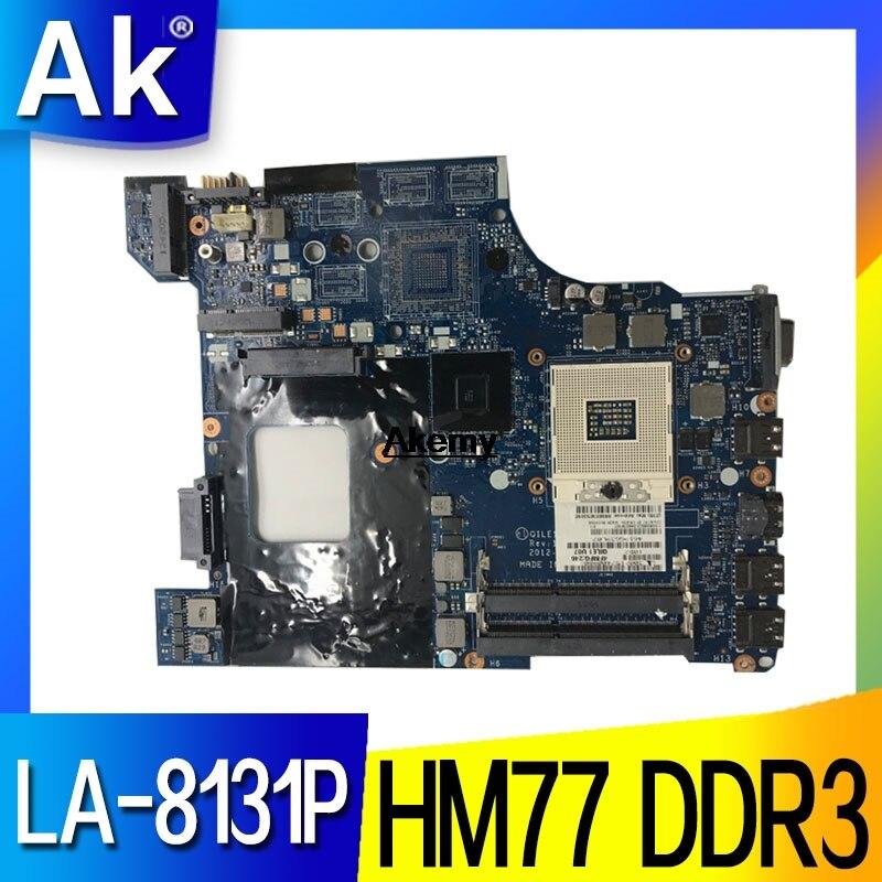 QILE1 LA-8131P pour Lenovo thinkpad E430 E430C ordinateur portable carte mère FRU 04W4018 04Y1168 PGA989 HM77 DDR3 100% travaux d'essai