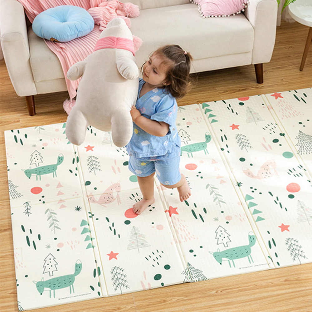 Bebek parlayan bebek oyun matı Xpe bulmaca çocuk Mat kalınlaşmış Tapete Infantil bebek odası tarama pedi katlanır Mat bebek halısı