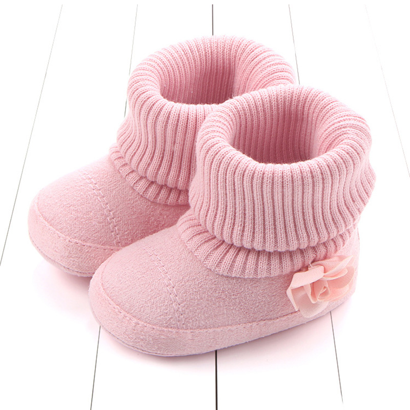 Soft New Thick Baby Winter Boots Toddler Newborn Solid Baby Shoes First Walker Keep Plush Warm Snowfield Booties For Boy Girl