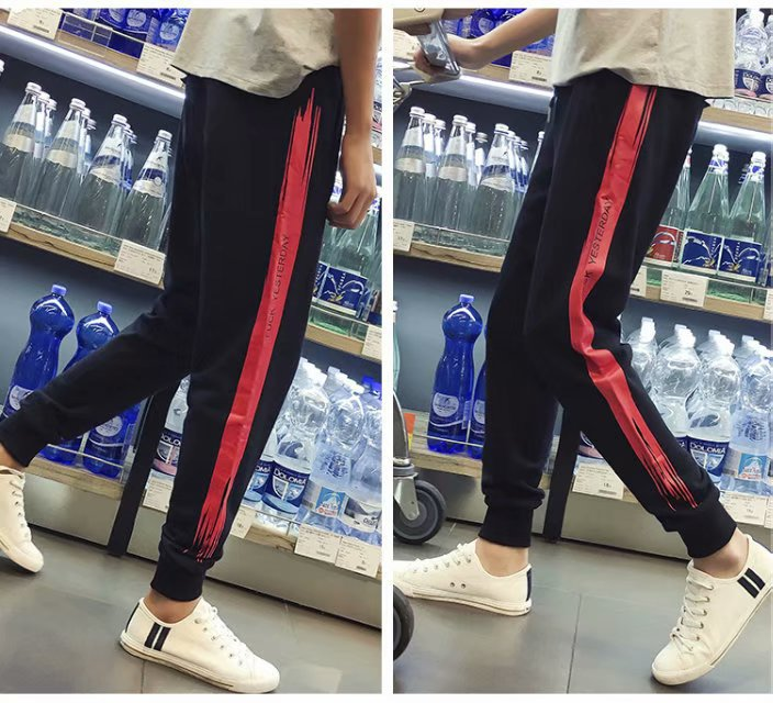 Summer Casual Pants Men 9 Capri Pants Korean-style Trend Versatile Handsome Students Teenager Thin Athletic Pants
