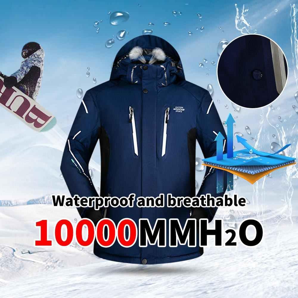 und Snowboardjacke Herren QUETHIKK Skianzug Herren Sets Super Warm Verdicken Wasserdicht Winddicht Winter Schnee Anz/üge Herren Sets Winter Ski