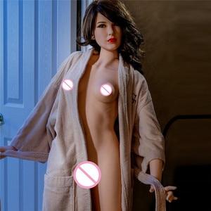 Image 4 - 160cm (5.25ft) 실리콘 현실적인 인형 섹스 플랫 가슴 인공 질 귀족 milf 섹스 토이 남자 진짜 가격