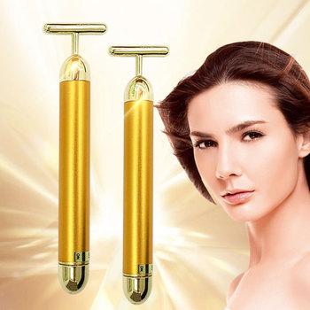 Blast Gold Bar 24k Gold masażu kosmetycznego Stick t-type masażer elektryczny V masażer upiększający twarz tanie i dobre opinie doloise CN (pochodzenie) Średni Materiał kompozytowy Massage introduction Vibrating type Gold silver