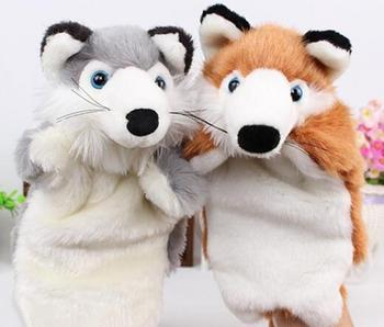 Hot Selling Cartoon Plush Toys Boy Girl Hand Puppet Animal Child Cute Finger Dolls Telling Stories To The Baby