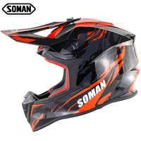 Soman Motocross casque descente Capacete course hors route Moto casques pour hommes Abs Casco Para Moto Hombre Capacete Moto Atv