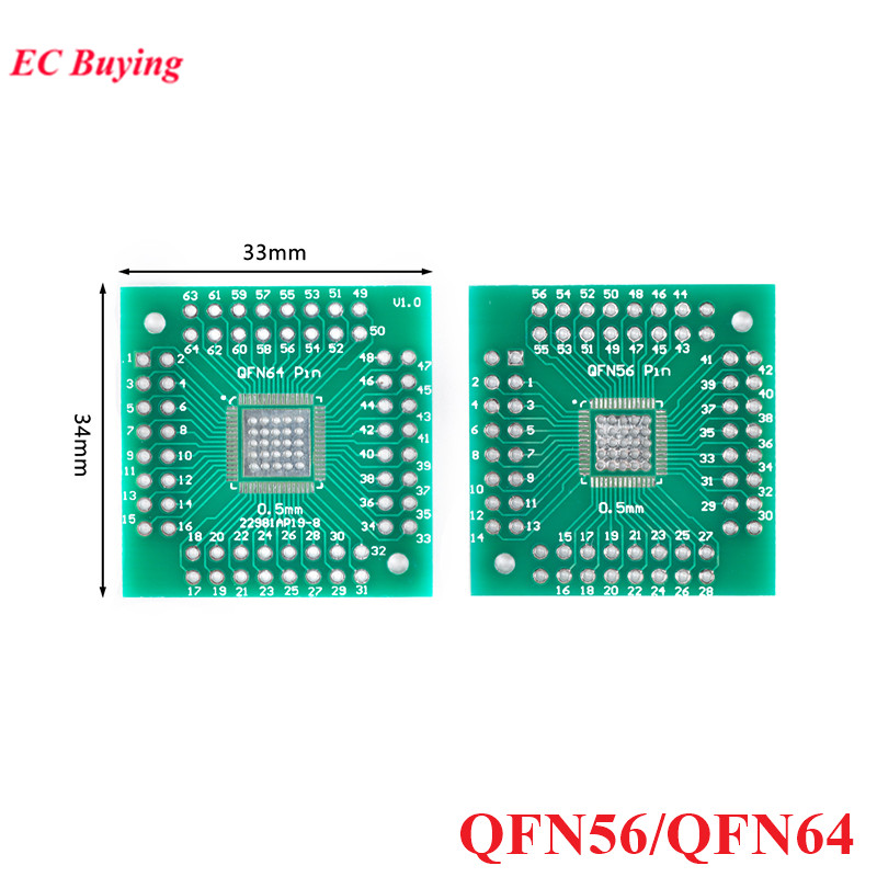 5 шт. QFN56 QFN64 переходник печатной платы SMD к DIP56 DIP64 DIP Pin IC тестовая пластина 0,5 мм 2,54 мм шаг преобразователь Socke