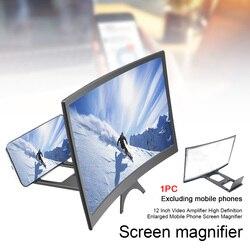 12 Polegada ampliado display suporte de tela do telefone móvel amplificador vídeo universal alta definição curvo filme