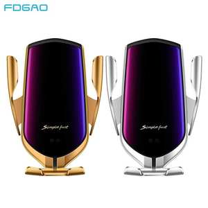 FDGAO Phone-Holder Car-Charger Automatic-Clamping Wireless 10W Fast Mount Qi for 11 Pro