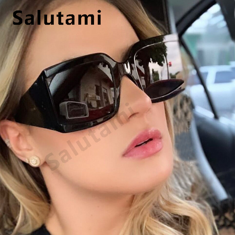 Oversized Square Sunglasses Women White Silver Mirror Rivet Sun Glasses 2020 Brand Men Eyewear Female Vintage Wide Leg Shades