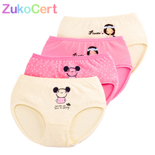 Girls Underwear Panties Kids Clothing Short Baby Briefs Cotton Cartoon Children's Zukocert