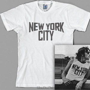 Дропшиппинг, мужская летняя футболка New York City John Lennon, модная Роскошная брендовая мужская футболка из 100% хлопка, повседневные футболки и топы