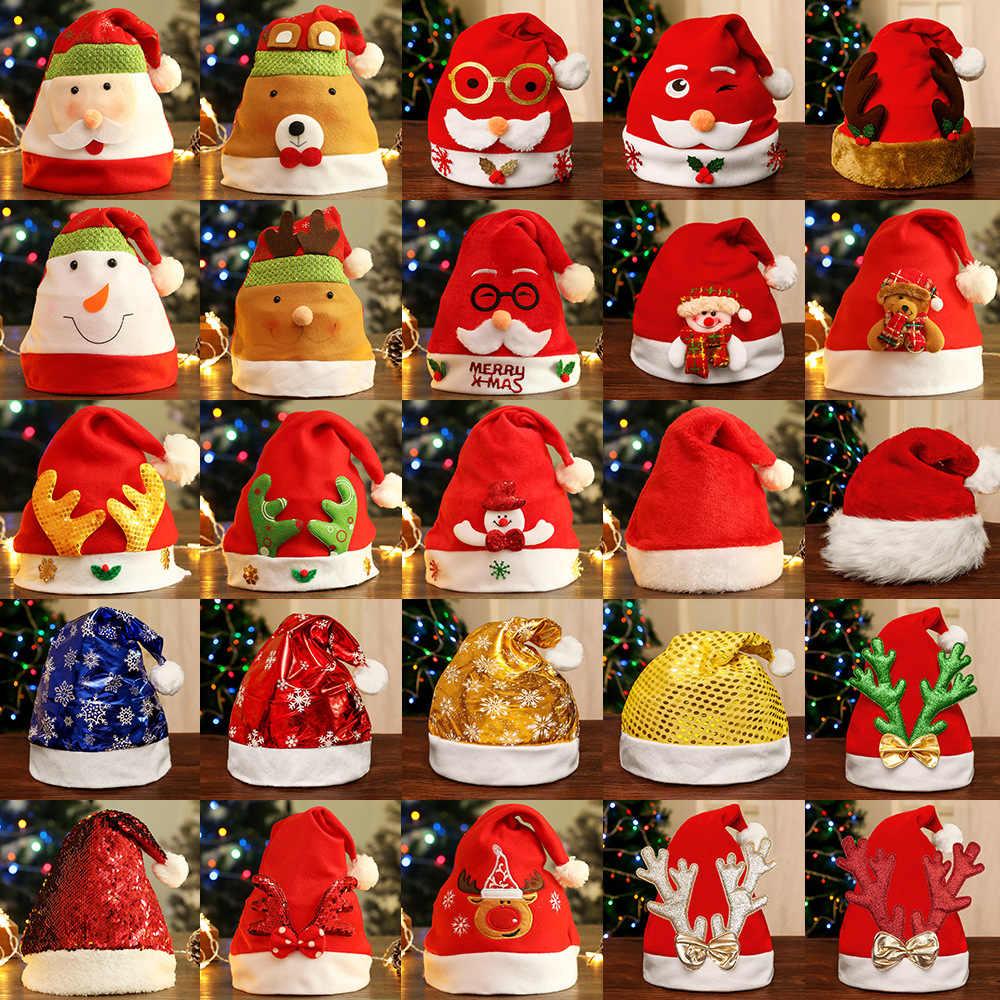 Mũ Lưỡi Trai Giáng Sinh Giáng Sinh Con Trưởng Thành Người Tuyết Người Cao Tuổi Tơ Vải Không Dệt Linh Dương Người Mẫu Đảng Trang Trí Giáng Sinh Đầm Xinh Xắn