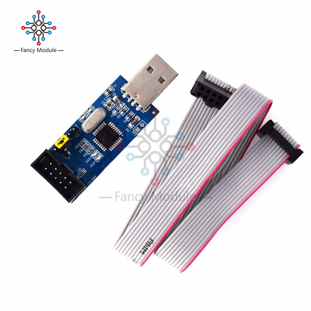 USBASP USBISP 51 AVR Programmer Adapter Microcontroller ISP Download Cable Set