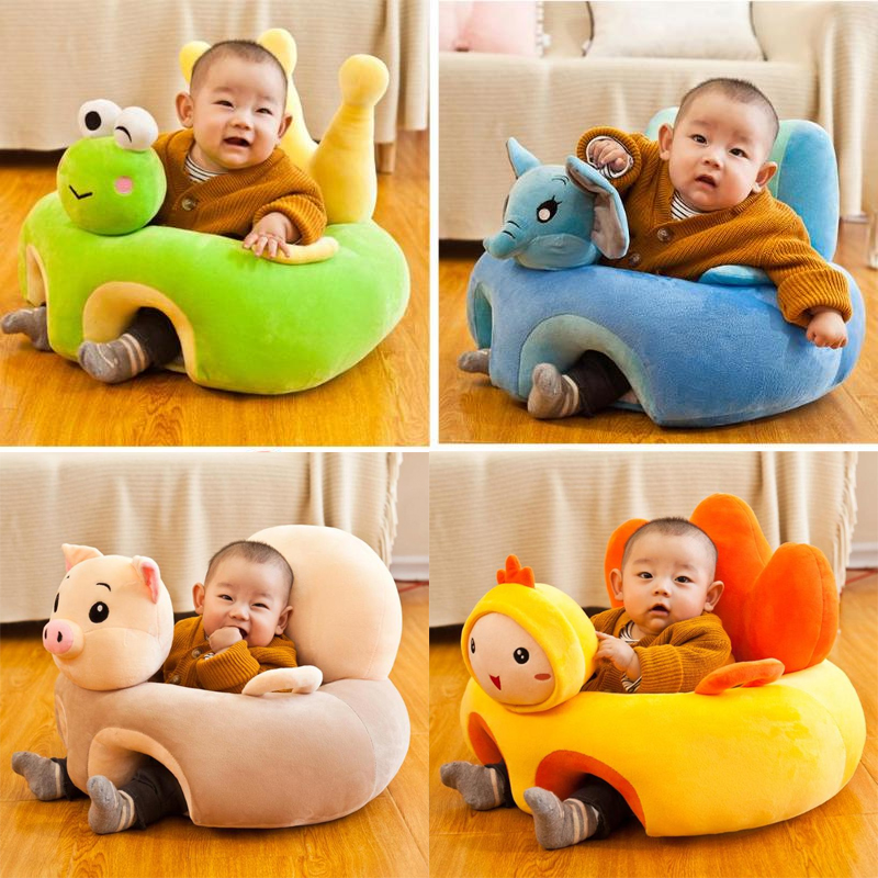 Sofa Support Seat Cover Baby Plush Chair Learning To Sit Pigs Nest Toddler Nest Puff Washable Without Filler Cradle Sofa Chair