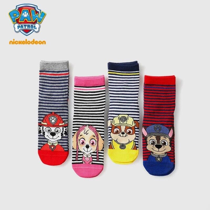 1 Pair Genuine Paw Patrol Socks For Girls Boy Cotton Kids Socks Toddlers Sox Skye Chase Marshall Rubble Non Slip Socks Kids Gift
