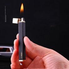Новинка ультратонкая металлическая газовая зажигалка zorro компактная