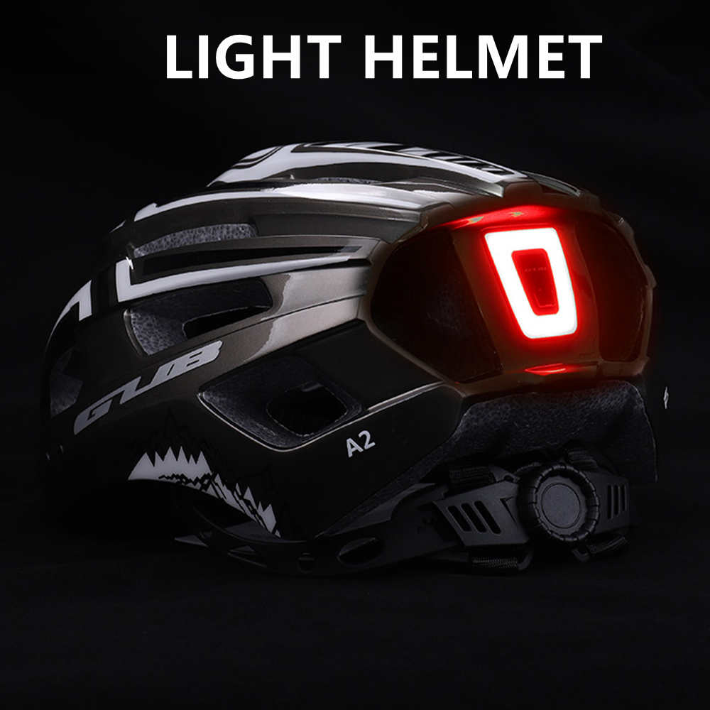GUB A2 Bicycle Helmet LED Light 9 Model Rechargeable Intergrally-Molded Cycling Ultralight Road Bike MTB DH Sports Safe Helmets