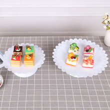 Metal Cake Fruit stand Festival Dessert Tray Stand Holder Party Birthday Decoration Wedding Display Gold White