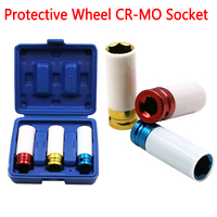 Colorful 3pcs 17/19/21mm Pneumatic Tyre Protection Sleeve Steam Sleeve Auto Repair Hardware Tool + Case|Wrench|   -