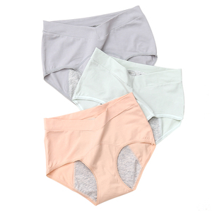 Image 3 - Leakproof נשים של תחתונים כותנה Underpanties תחתוני וסת היי מותניים פיסיולוגיים תחתוני עמיד למים בריחת תחתונים