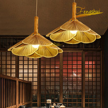 Chinese Retro LED Fan Pendant Lamps Lighting Creative Wood Art Pendant Lights Restaurant Hotel Bedroom Loft Hanging Lamp Device rural pastoral pendant lights wood glass restaurant bedroom lamps lighting 4 heads white wooden pendant lamps za