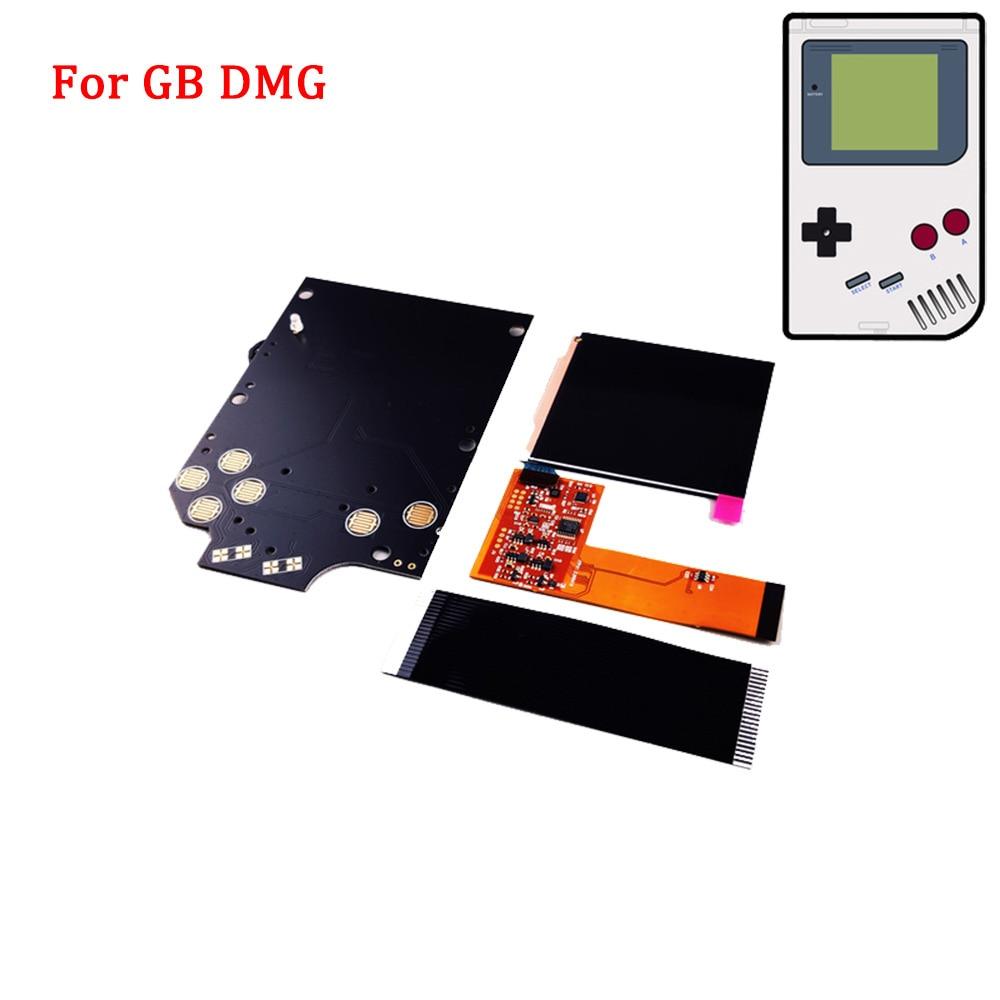 Новый DMG IPS LCD полный экран наборы для GB DMG высокий светильник яркость 36 цветов фона IPS LCD подсветка светильник со стеклянным экраном