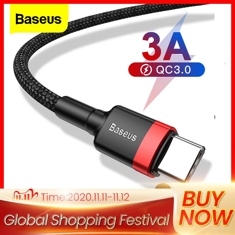 Baseus USB C tipi kablo xiaomi 10 Pro redmi 8 USB C cep telefonu kablosu hızlı şarj C tipi kablo USB tip-c aygıtları için