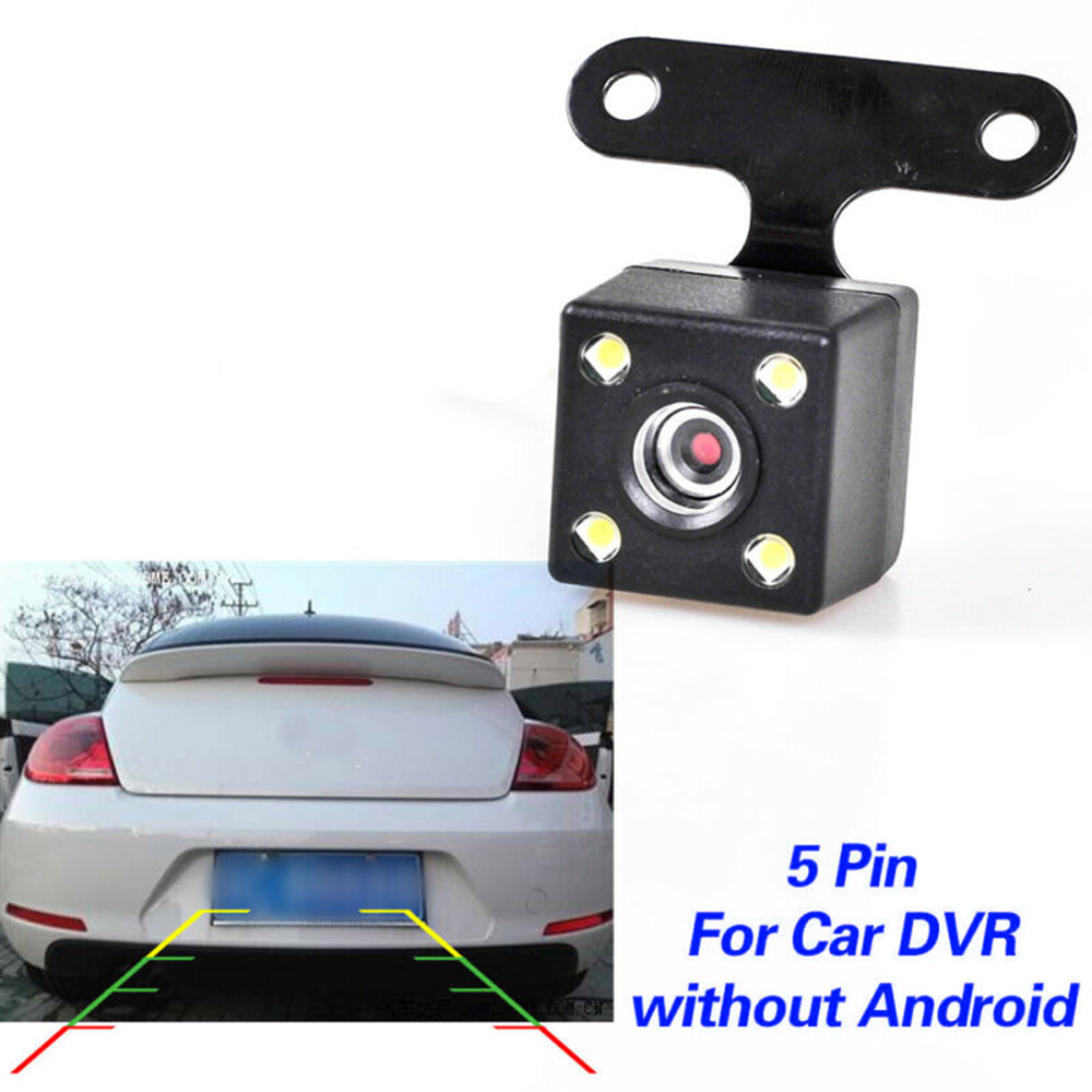 DC12V Universa Car Backup Rear View LED Night Parking Reverse Camera For DVR 5 Pin Waterproof 170 Wide Angle HD Color Image