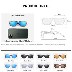 Image 5 - Солнцезащитные очки CAPONI Мужские поляризационные, зеркальные солнечные аксессуары квадратной формы, для вождения, с защитой от ультрафиолета, в винтажном стиле, CP6560